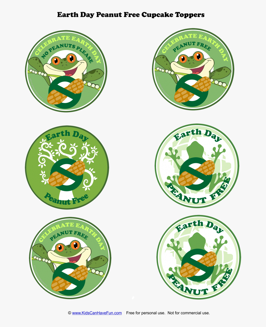 Green Earth Day Signs, Transparent Clipart