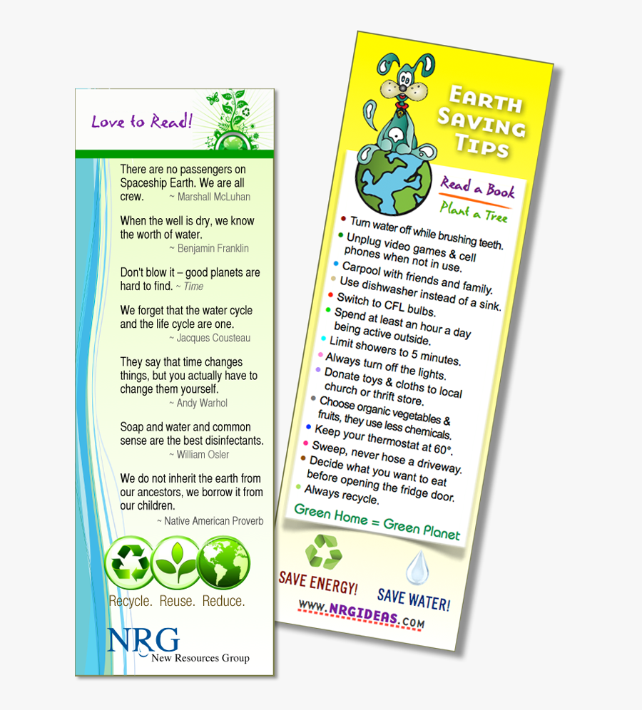 Clip Art Bookmark With Water Energy - Bookmark On Water Conservation, Transparent Clipart