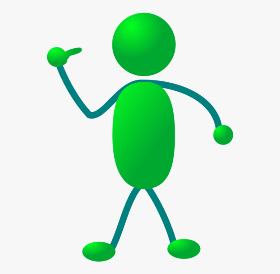 Stickman Pointing Finger To Himself - Stick Figure Pointing At Itself, Transparent Clipart