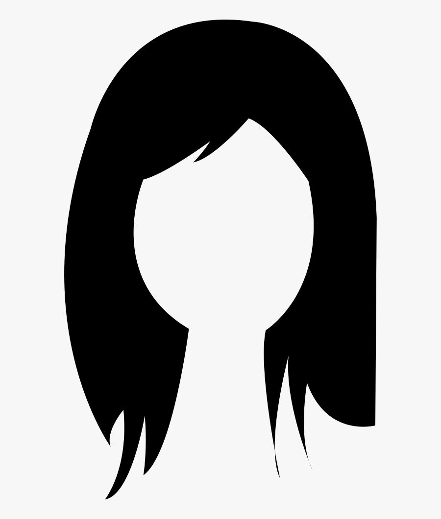 Brunette Female Woman Long Hair - Gambar Rambut Kartun Png, Transparent Clipart