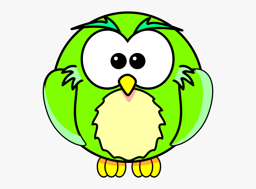 Green Owl Svg Clip Arts - Printable Cartoon Coloring Book, Transparent Clipart