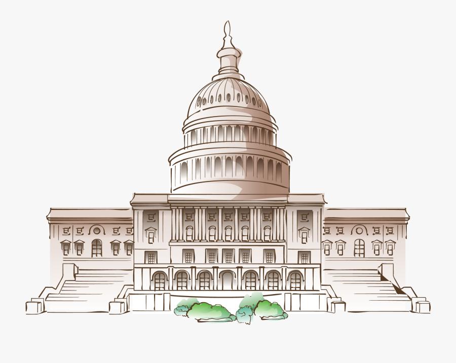 White House Cartoon Mural - Cartoon White House Png, Transparent Clipart