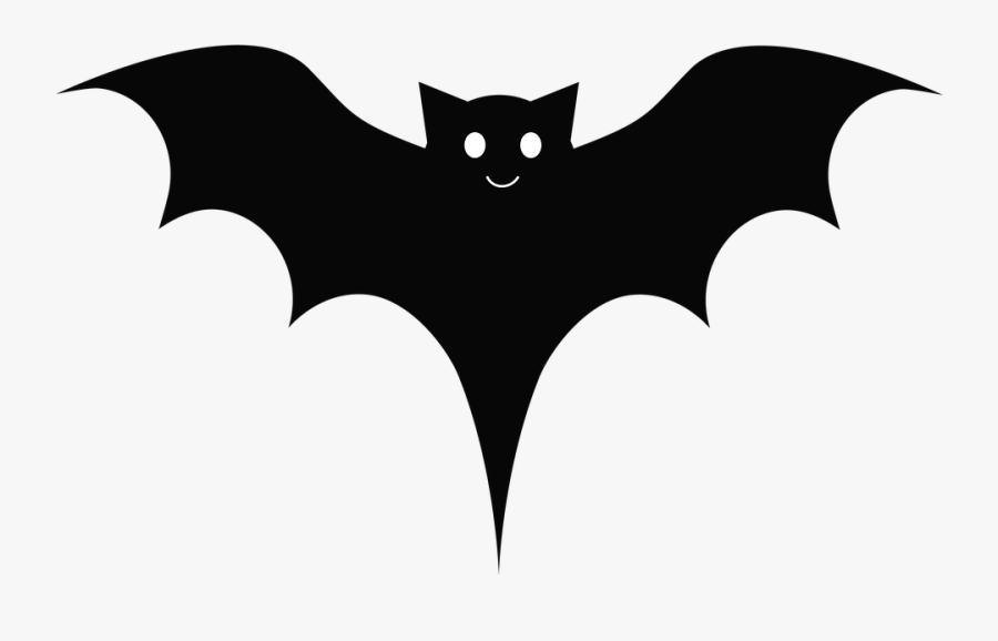 Bat, Black, Cute, Cartoon, Wings - Emblem, Transparent Clipart