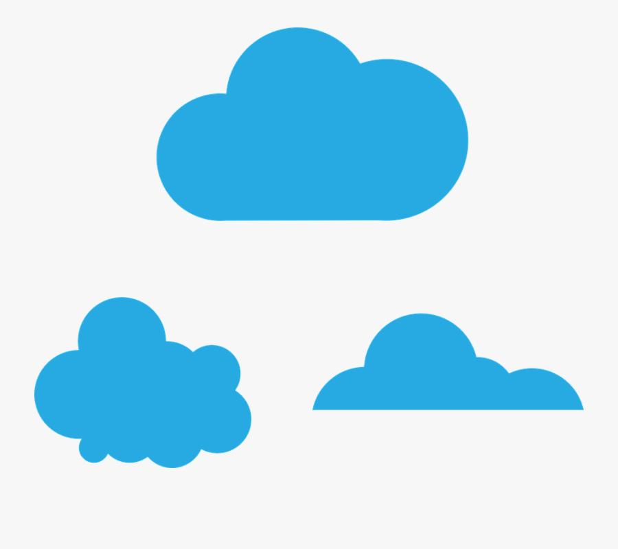 Cloud, Blue, Sky, Color, Weather, Cloudscape - Clouds Color Blue Png, Transparent Clipart