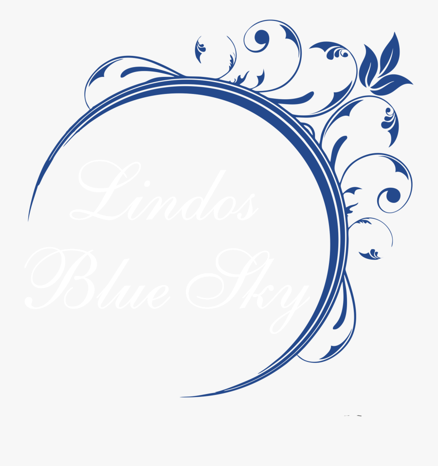 Lindos Blue Sky - Circle Frame, Transparent Clipart