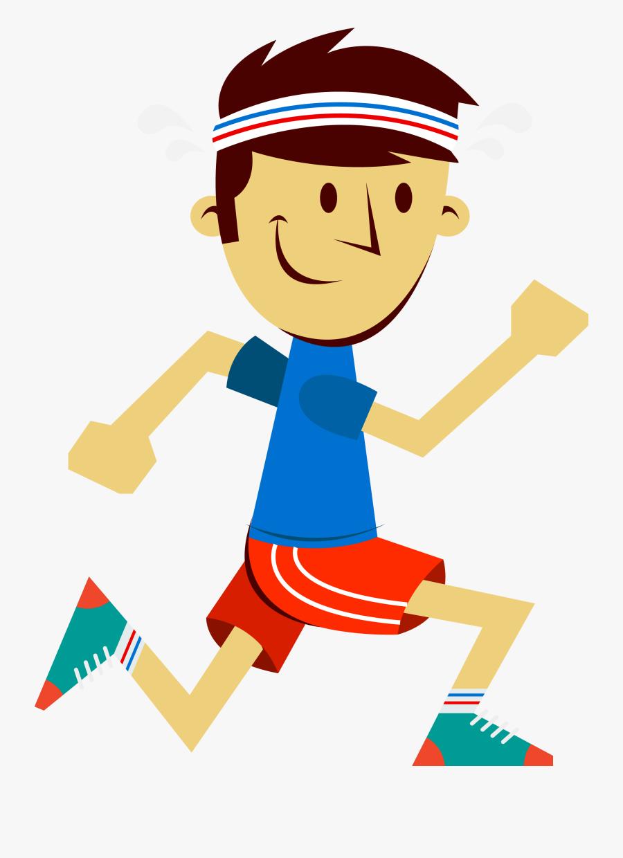 Sport The Little Boy In Transprent Png Clipart , Png - Cartoon Man Running Png, Transparent Clipart