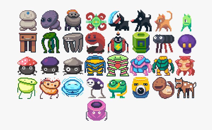 Preview - Pixel Art Creatures, Transparent Clipart