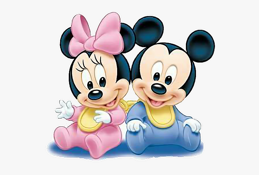 #mickey #minnie #mickeymouse #minniemouse #mouse #baby - Minnie En Mickey Mouse Baby, Transparent Clipart