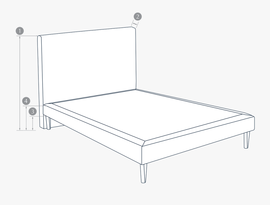 Foundation High Specific Dimensions - Bed Frame, Transparent Clipart