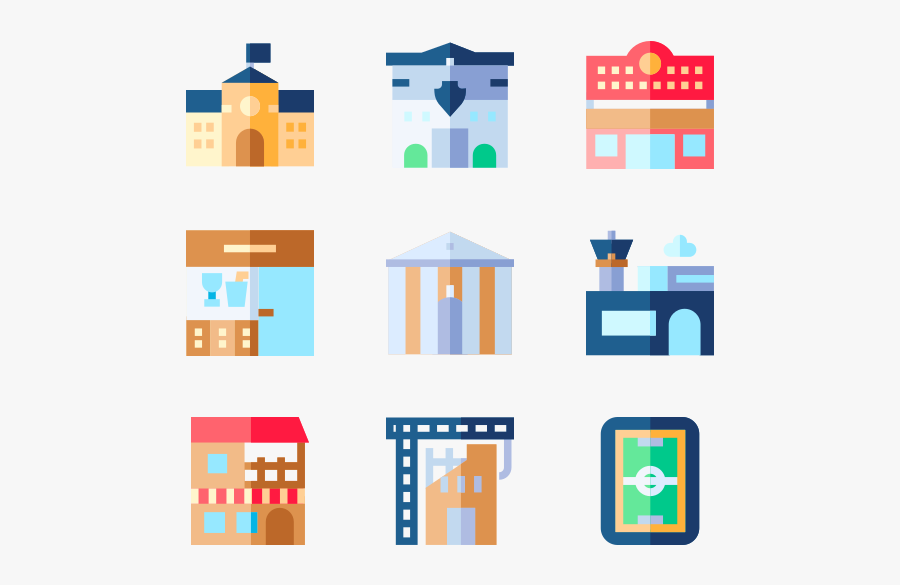 Urban Building - City Hall Vector Icon Png, Transparent Clipart