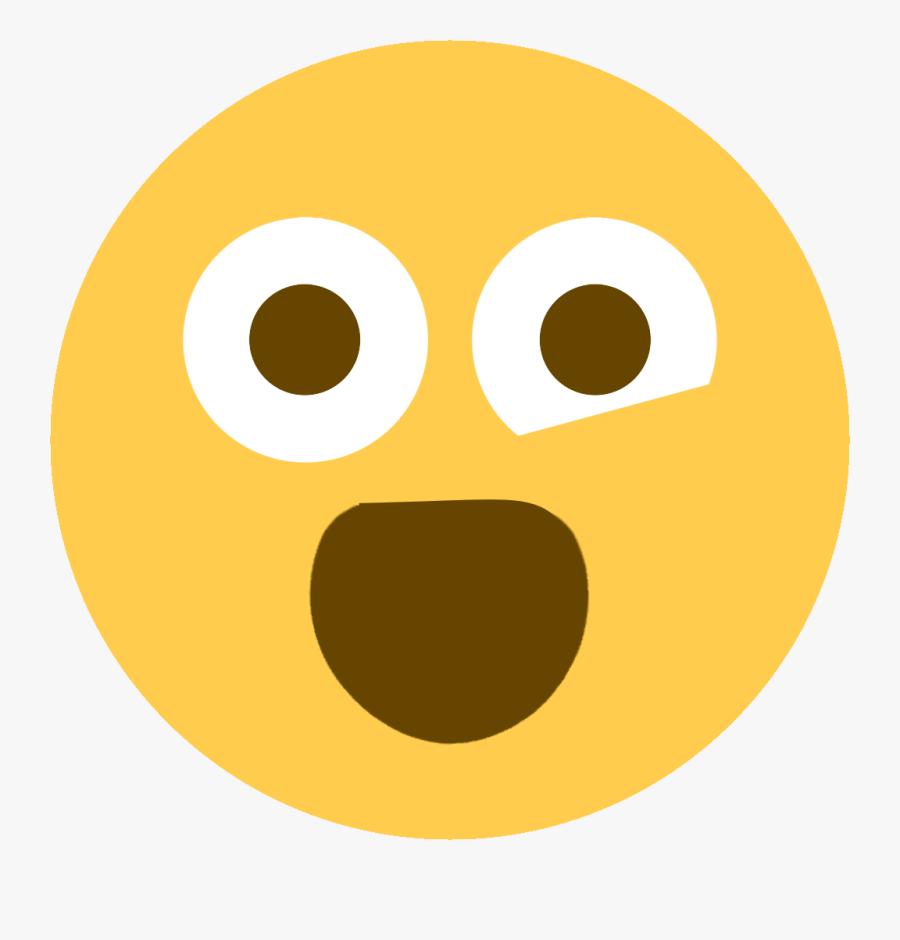 Art,snout,icon,mouth,no Expression - Crazy Emoji Discord, Transparent Clipart