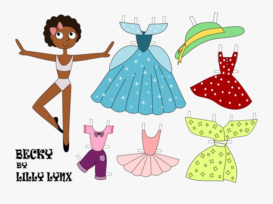 Princess Paper Cutout Dolls, Transparent Clipart