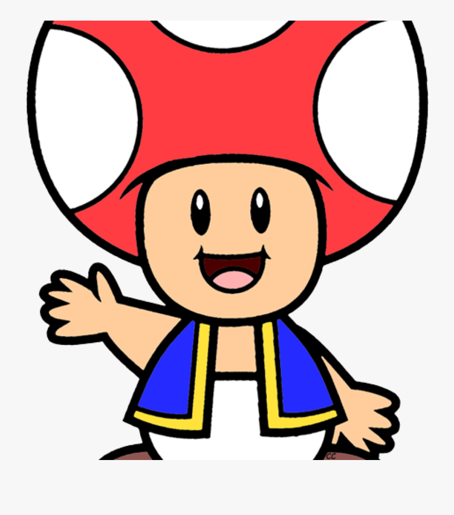 Mario Clipart Super Mario Bros Clip Art Cartoon Clip - Cartoon Toad From Mario, Transparent Clipart
