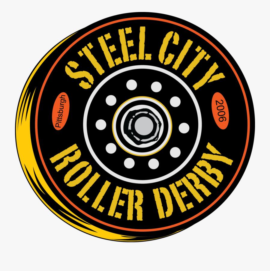 Steel City Roller Derby - Roller Derby Logo, Transparent Clipart