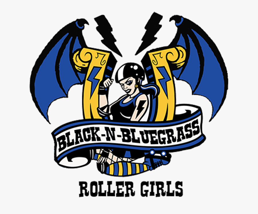 Black N Bluegrass Roller Girls - Black And Bluegrass Junior Roller Derby, Transparent Clipart