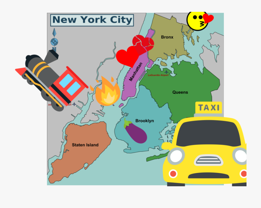 We Fucked Our Way Through New York - New York City Map Drawing, Transparent Clipart
