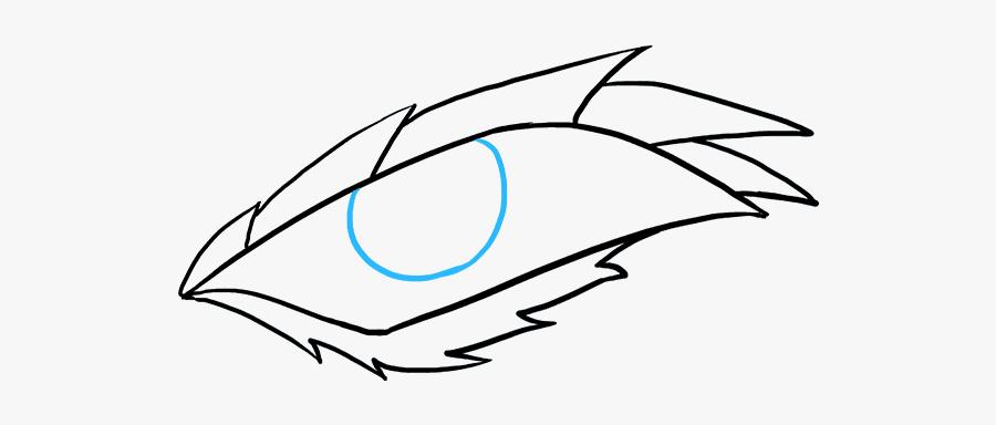 How To Draw Dragon Eye - Drawing Easy Dragon Eye, Transparent Clipart