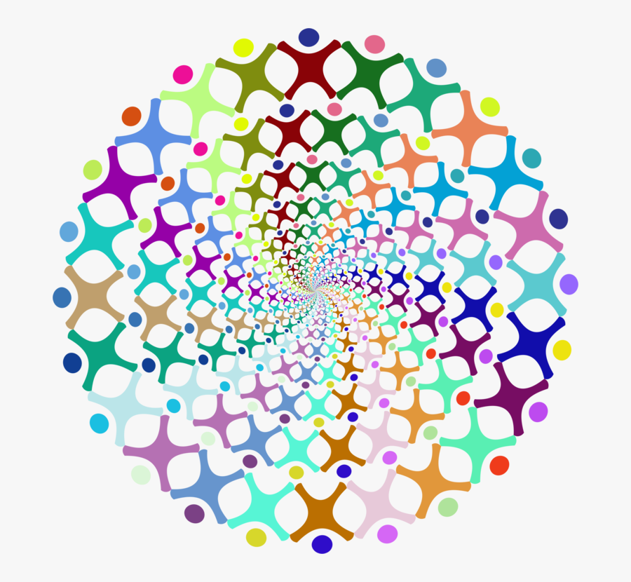 Symmetry,area,line - Clip Art People In Circle, Transparent Clipart