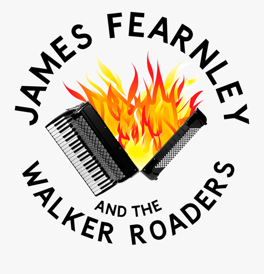 Accordion With Flames Spilling Out Where The Bellows - Campfire, Transparent Clipart