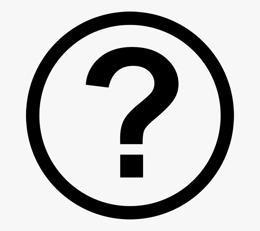 Question Mark Png Image Background - 2 Number In Circle, Transparent Clipart