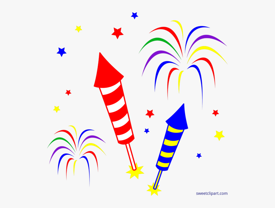 Clipart Rocket July 4th - Fireworks Clipart, Transparent Clipart