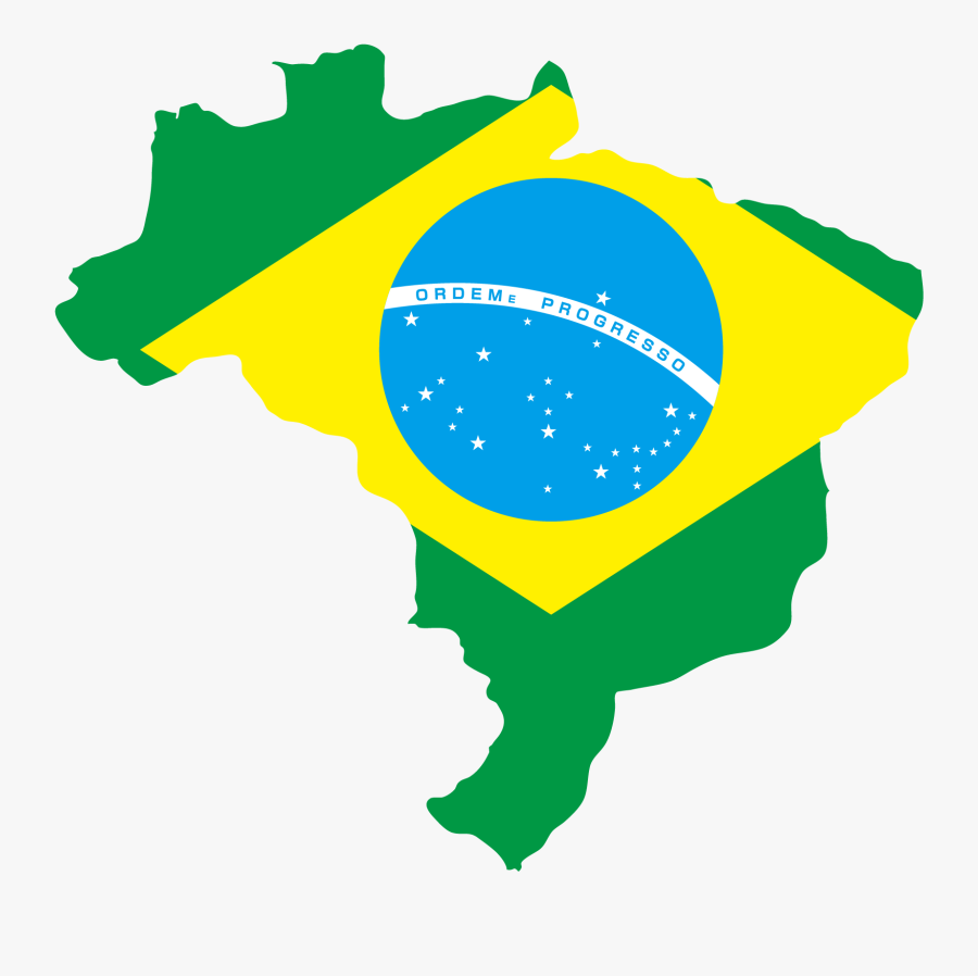 Transparent Brazil Flag Png - Brazil Flag In Country, Transparent Clipart