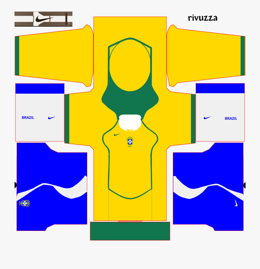 Dream League Soccer 2018 Brazil Kits, Transparent Clipart