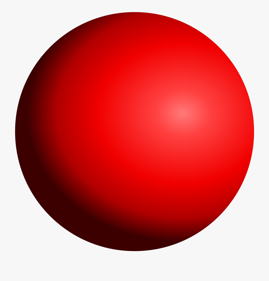 Clip Art Shaded Sphere - Red Circle Sphere, Transparent Clipart