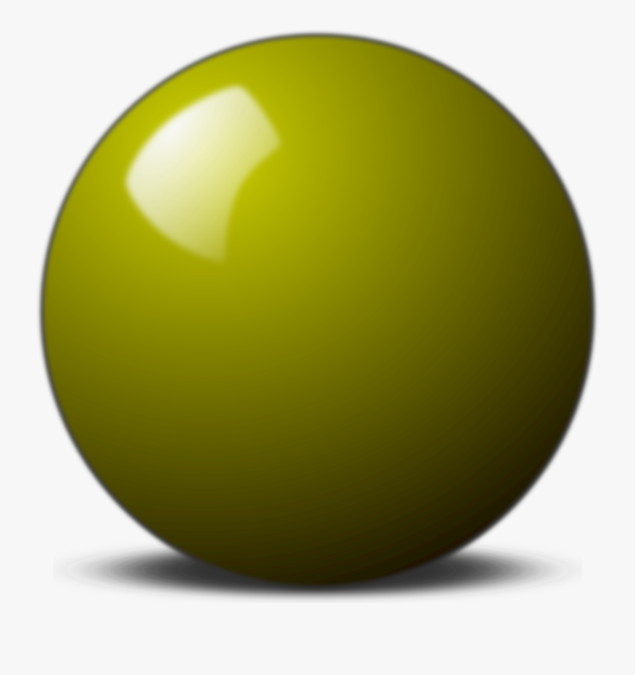 Sphere Clipart Yellow - Sphere, Transparent Clipart