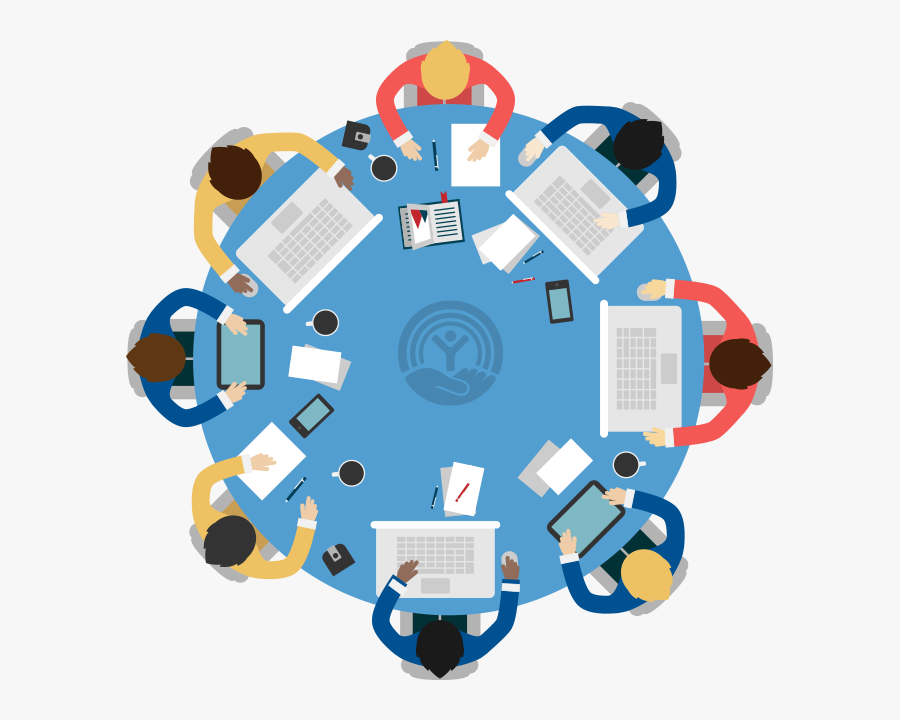Round Table Business Meeting, Transparent Clipart