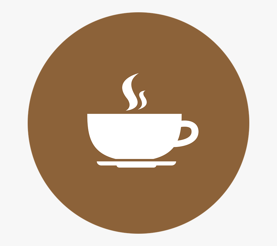 Cup,coffee Art,beige,logo - Brown Coffee Cup Icon, Transparent Clipart