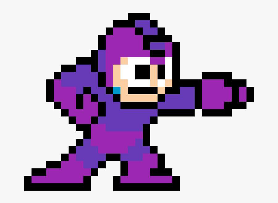 Mega Man Pixel Art, Transparent Clipart