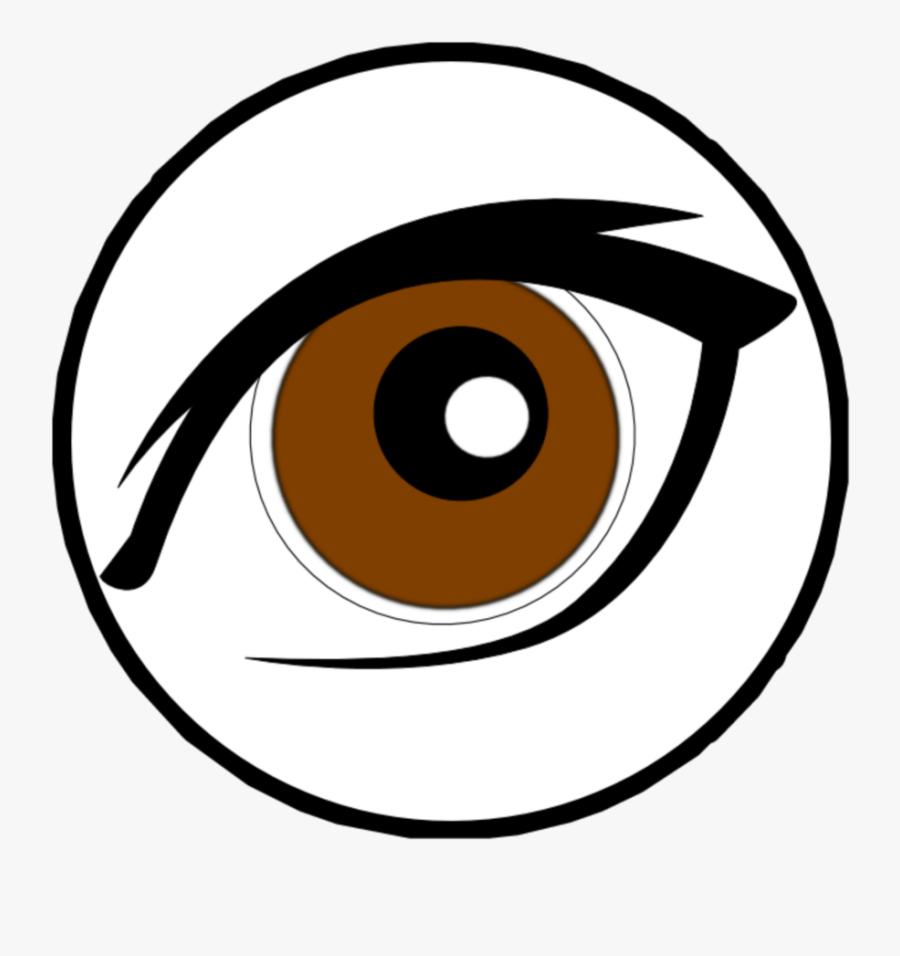 #mq #brown #eyes #eye #circle #circles - Brown Eye Clip Art, Transparent Clipart