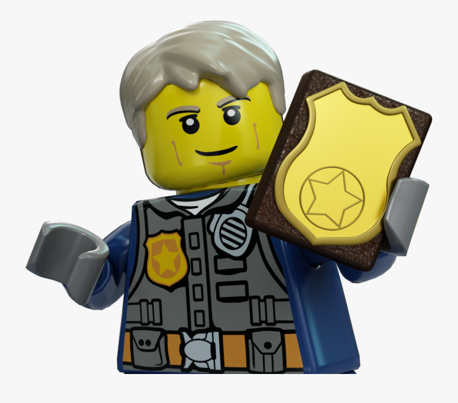 Lego Police Officer - Lego City Police Badge, Transparent Clipart