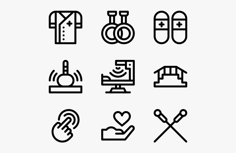 Physiotherapy - Hand Drawn Social Media Icons Png, Transparent Clipart