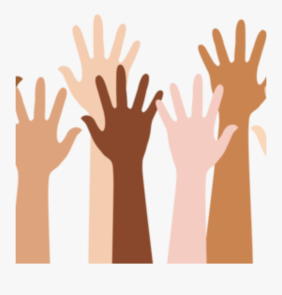 Youth Clipart Diverse Group Person - Transparent Raised Hand Png, Transparent Clipart