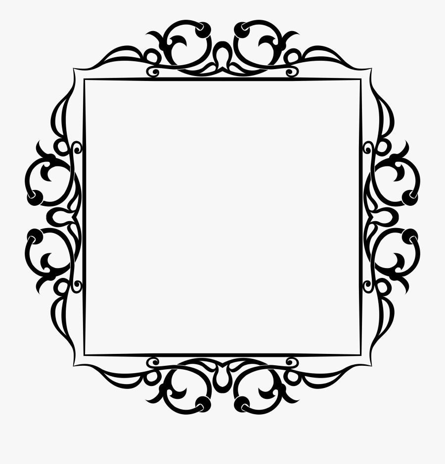 Banner Royalty Free Stock Decorative Svg Floral - Free Frame Border Clipart, Transparent Clipart