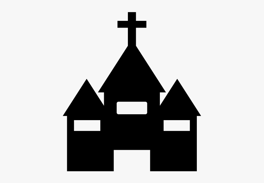 Symbol Of Church On A Map, Transparent Clipart