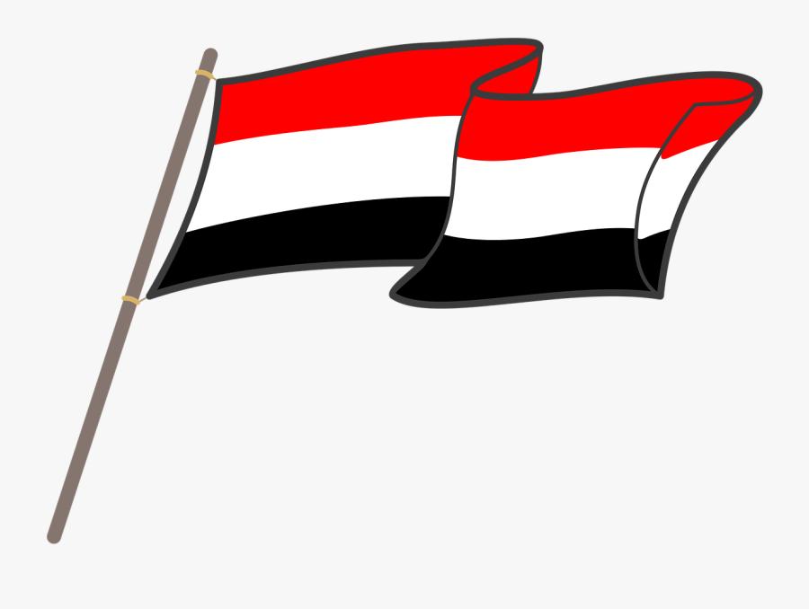 Yemen Flag Graphics Free Picture Mentahan Bendera Merah Putih Hitam Free Transparent Clipart Clipartkey
