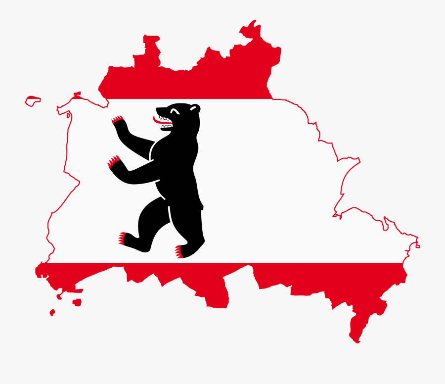 Svg Flags Silhouette - Berlin Flag Map, Transparent Clipart