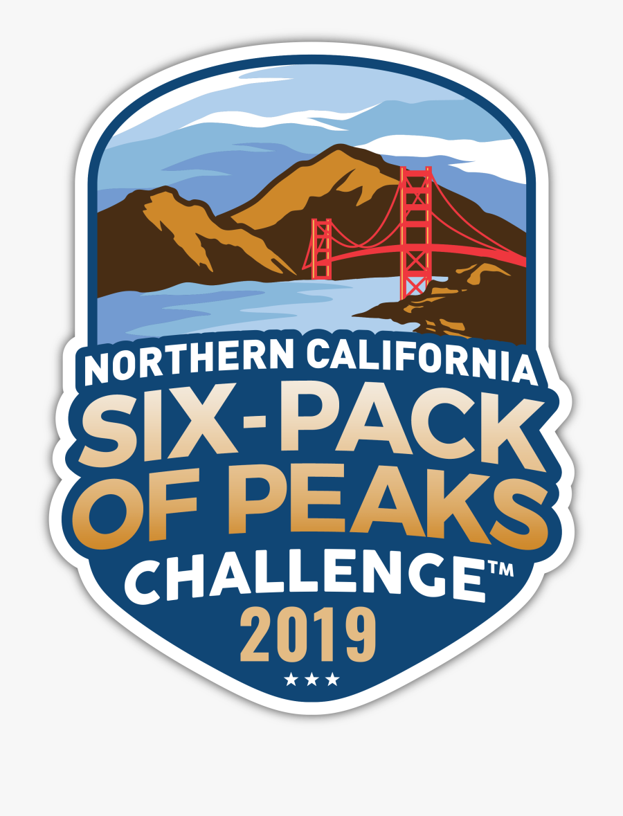2019 Norcal Six-pack Of Peaks Challenge - Illustration, Transparent Clipart
