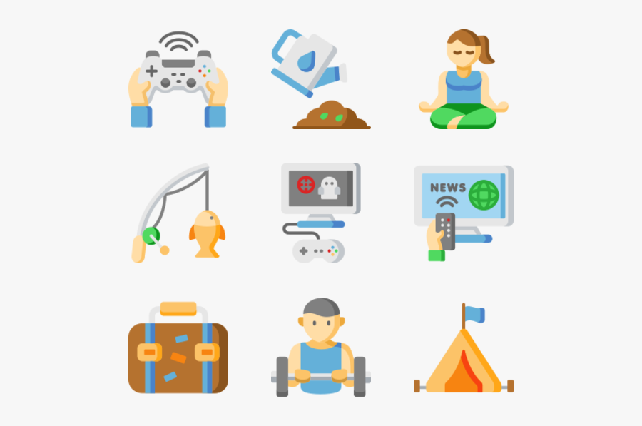 Hobbies And Freetime, Transparent Clipart