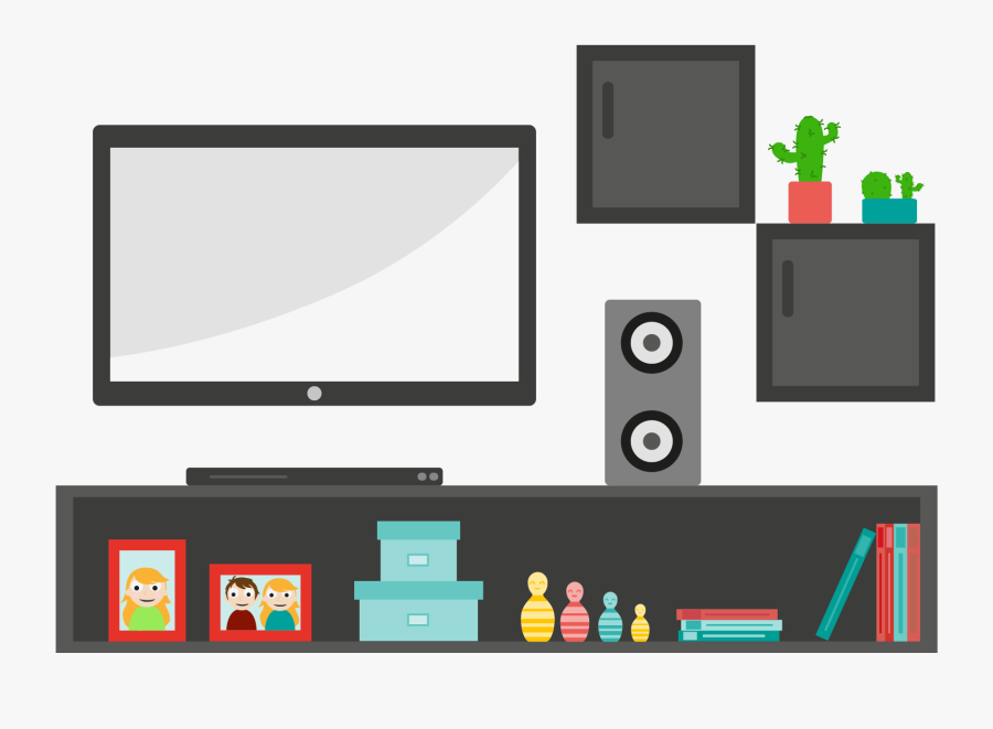 Tv Living Room Clipart , Free Transparent Clipart - ClipartKey