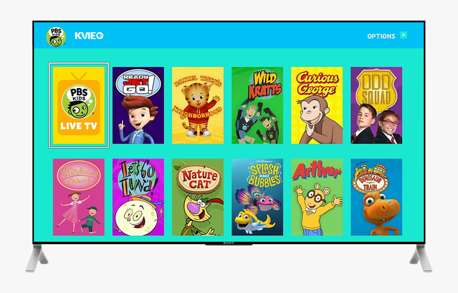 Pbs Kids App On Tv With Roku - Pbs Kids, Transparent Clipart