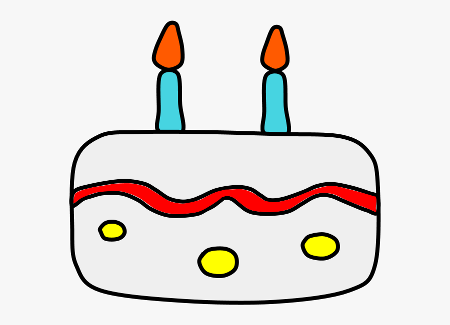Birthday Cake, Vanilla, White Frosting, Candles, Transparent Clipart