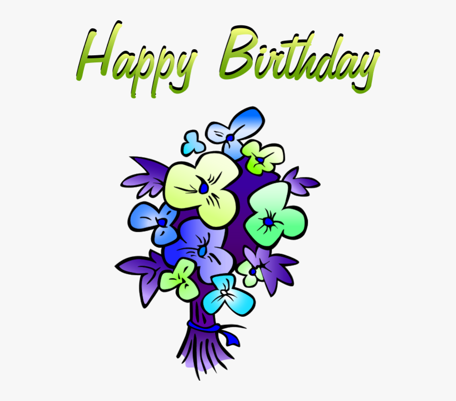 Search Results Happy Birthday Flowers Clip Art Wedding - Cartoon Images Of Happy Birthday, Transparent Clipart
