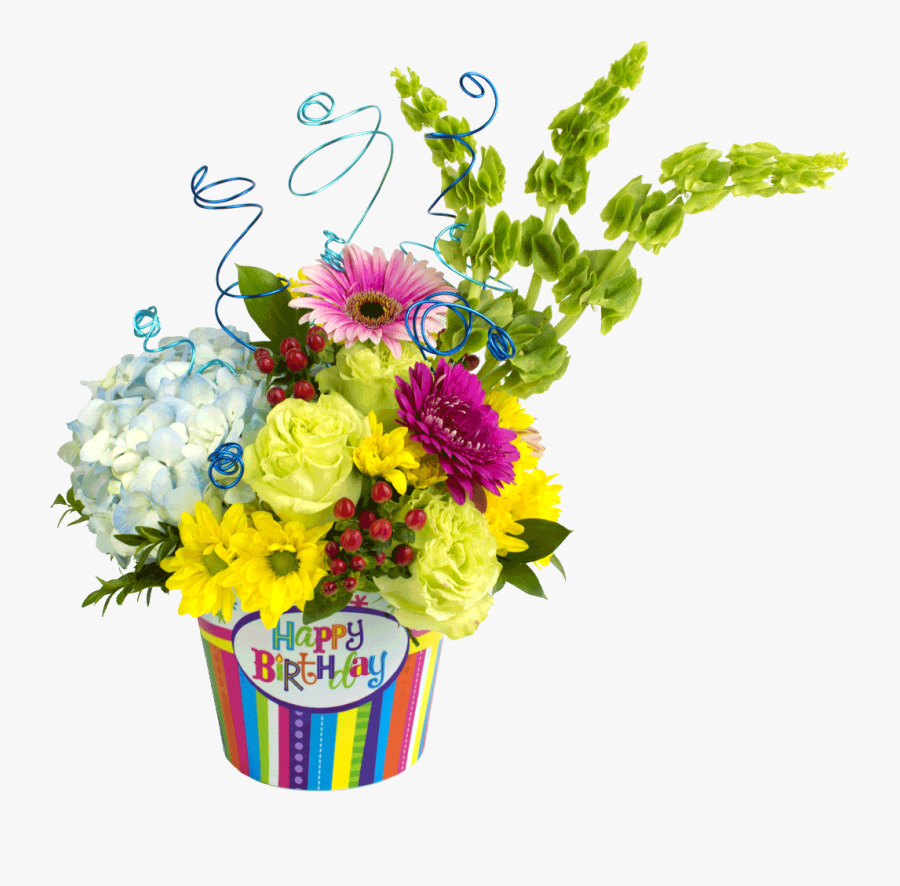Clip Art Happy Birthday With Flowers Images - Birthday Flower Bouquet Png Transparent, Transparent Clipart