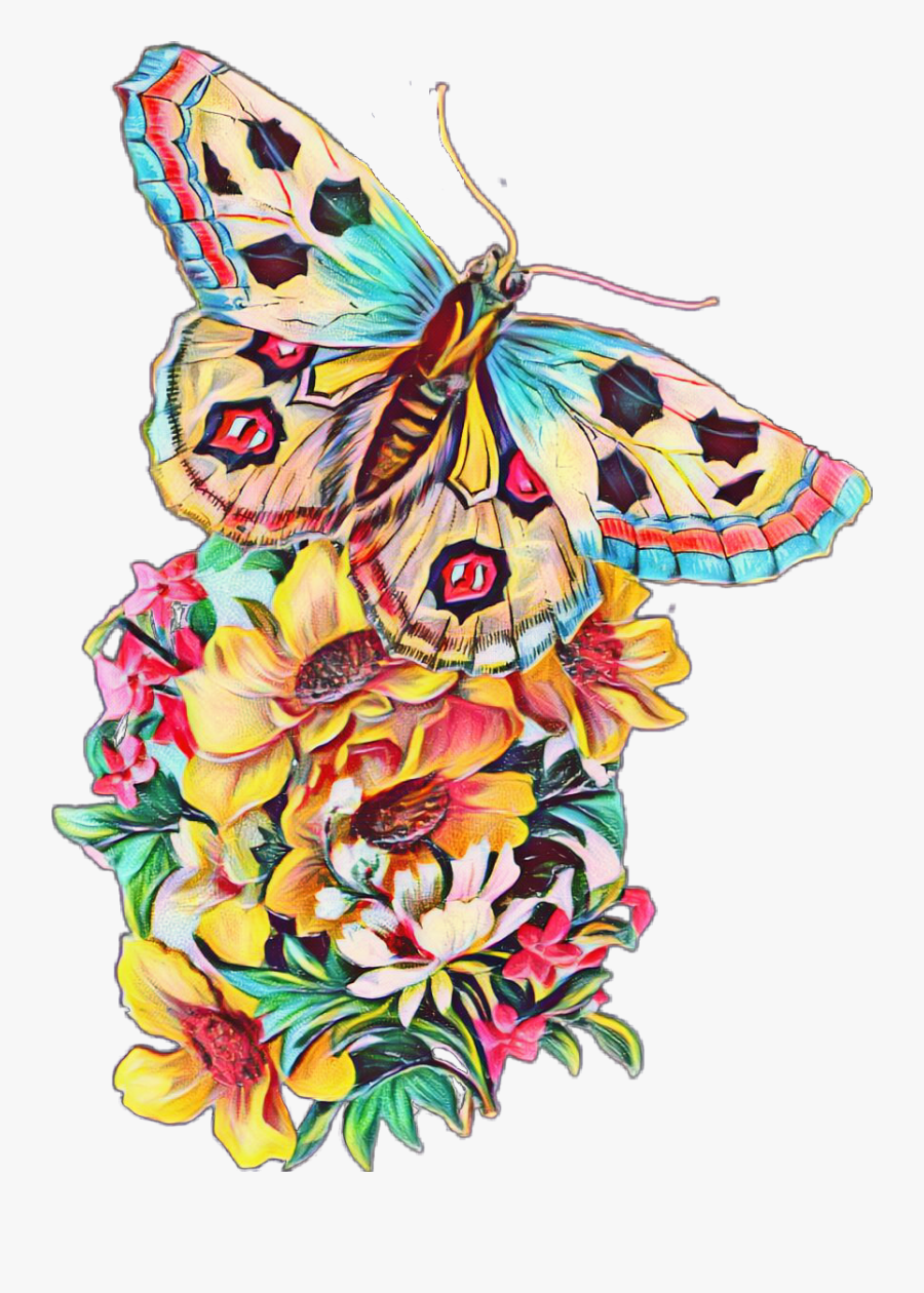 Transparent Watercolor Butterfly Png - Butterflies And Flowers Watercolor, Transparent Clipart