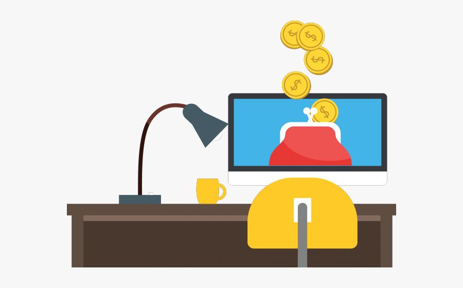Online Banking Clipart Financial Bank - Financial Illustration Png, Transparent Clipart