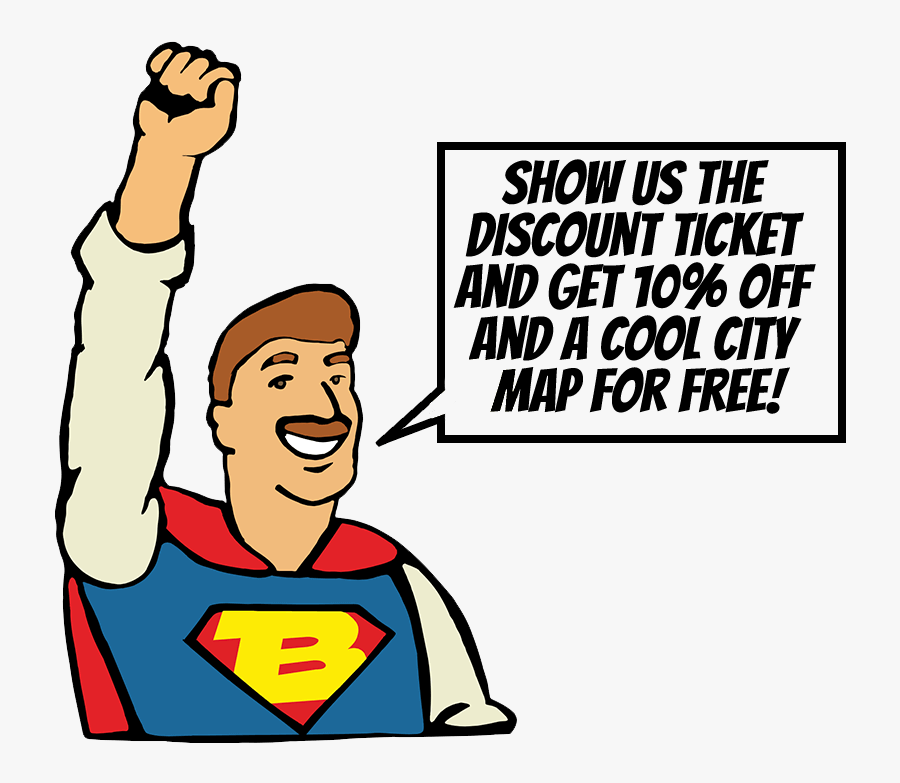 Get 10% Discount And A Free City Map - Cartoon, Transparent Clipart